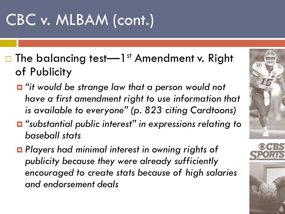  The balancing test—1 st Amendment v.