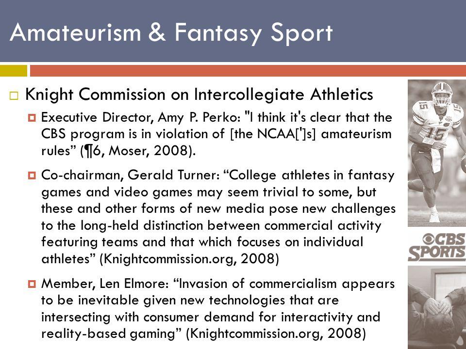  Knight Commission on Intercollegiate Athletics  Executive Director, Amy P.