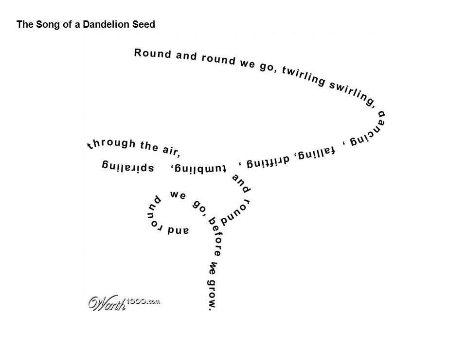 The Song of a Dandelion Seed