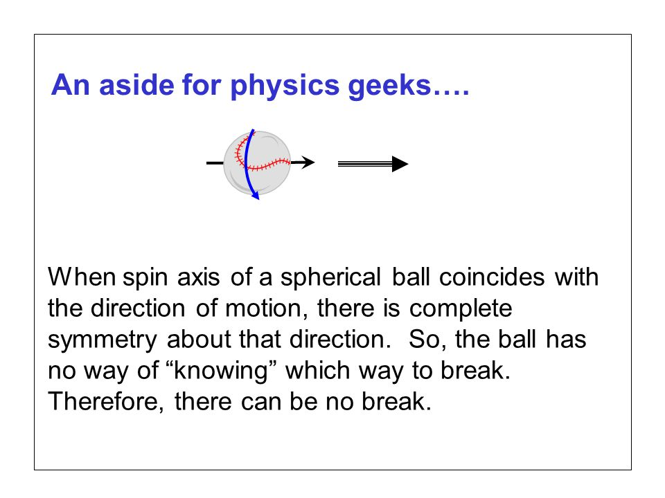 Page 15 SABR37, July 27, 2007 Alan M. Nathan Is the gyroball a miracle pitch? An aside for physics geeks…. When spin axis of a spherical ball coincide