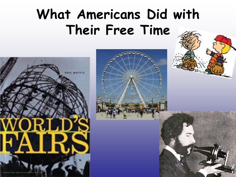What Americans Did with Their Free Time