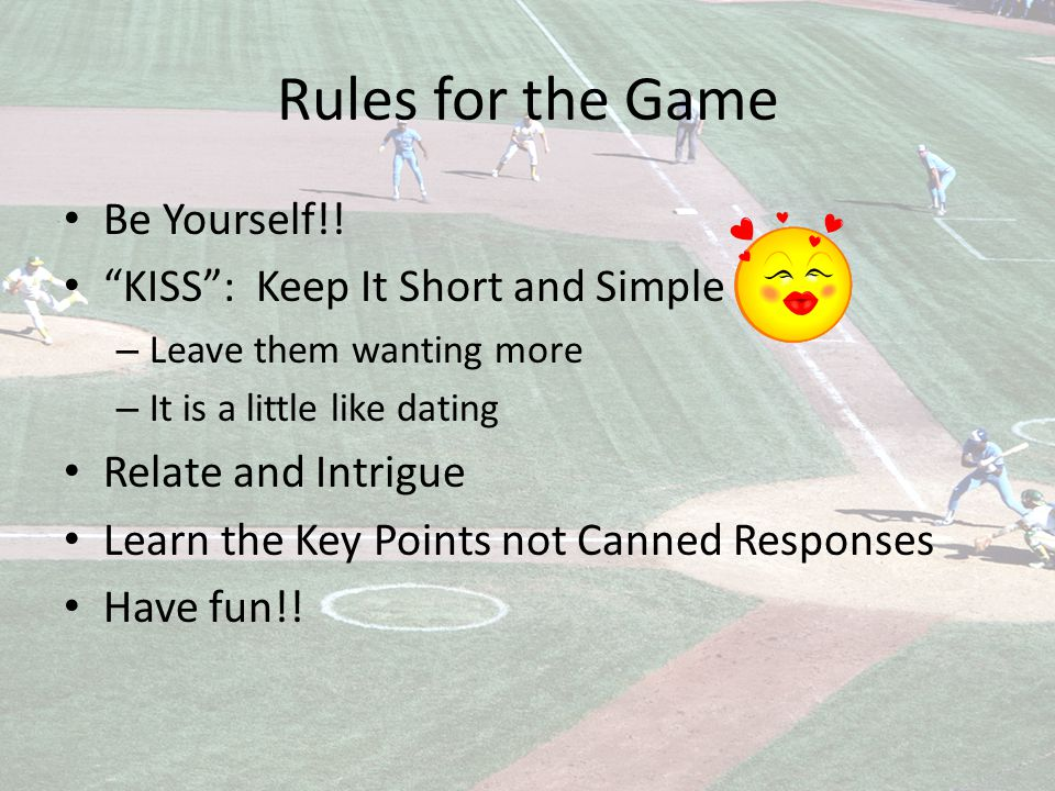 Rules for the Game Be Yourself!.