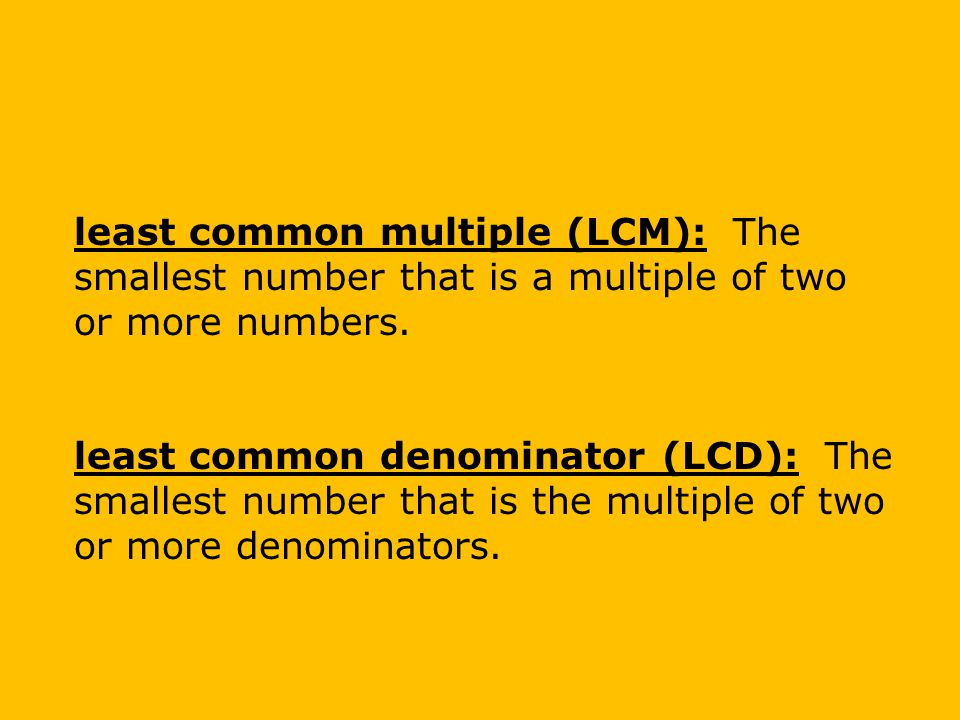 Check It Out: Example 2C Find the least common multiple (LCM).