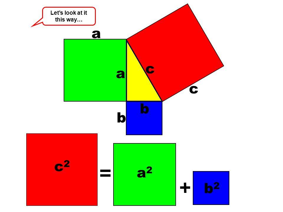 a a a2a2 b b c c b2b2 c2c2 Let's look at it this way…