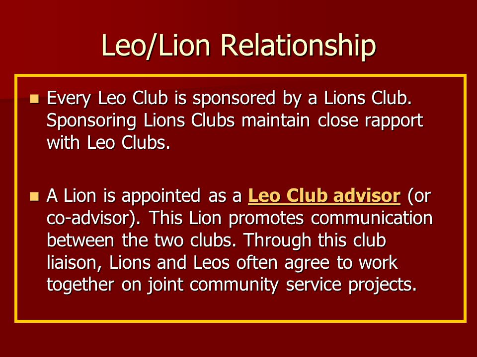 Charter Night Invitees to the ceremony should include: Invitees to the ceremony should include: -Lions Club members -parents and friends of the new Leo Club -parents and friends of the new Leo Clubmembers -representatives of outside agencies such as schools, religious youth groups, or community programs -Lions and Leo district officers -local media representatives