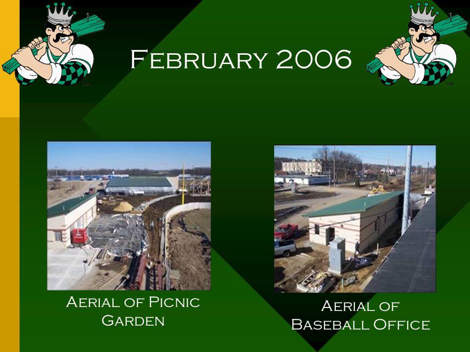 February 2006 Aerial of Picnic Garden Aerial of Baseball Office