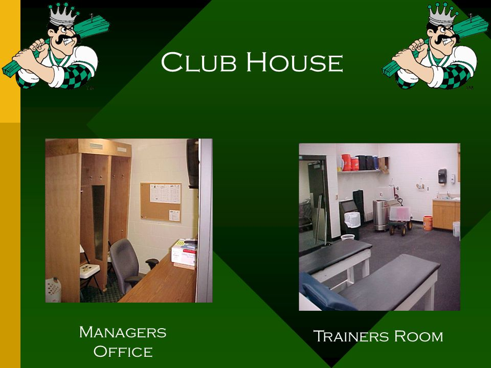 Club House Managers Office Trainers Room