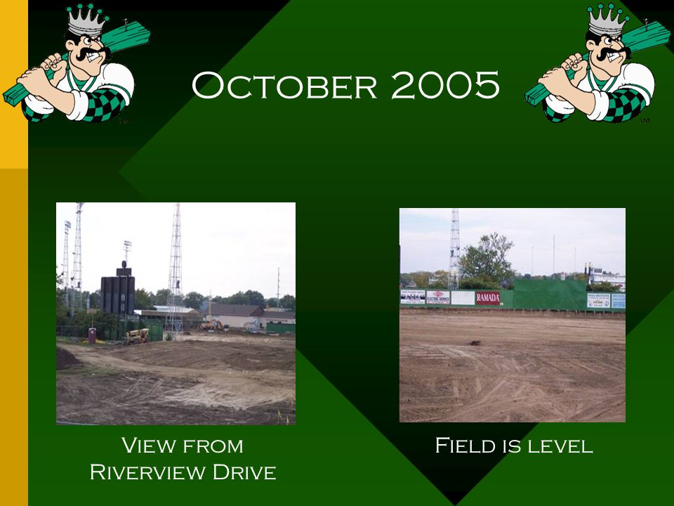 October 2005 Removal of field drains Crushed stone pillars for foundation