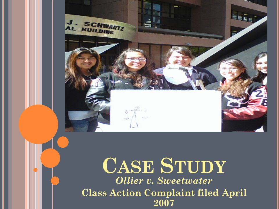 C ASE S TUDY Ollier v. Sweetwater Class Action Complaint filed April 2007