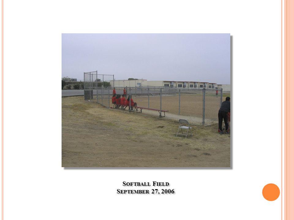S OFTBALL F IELD S EPTEMBER 27, 2006