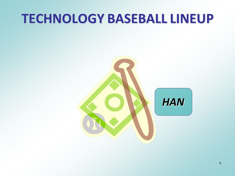 9 TECHNOLOGY BASEBALL LINEUP HAN