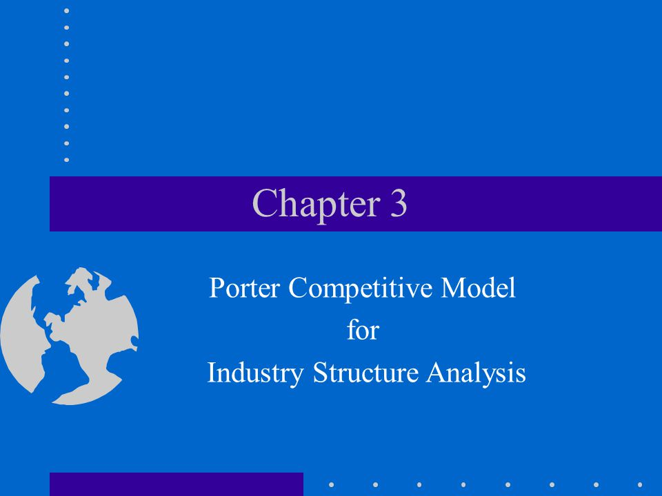 Chapter 3 Porter Competitive Model for Industry Structure Analysis