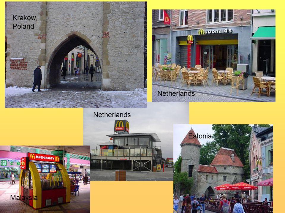 Netherlands Malaysia Estonia Krakow, Poland Netherlands