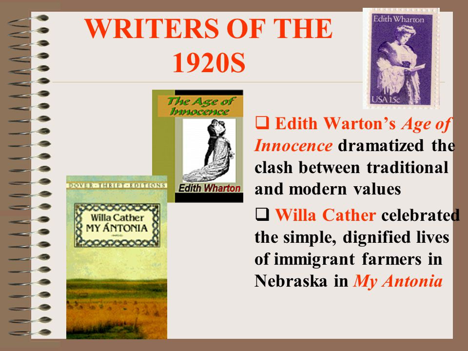 WRITERS OF THE 1920s  Writer F.