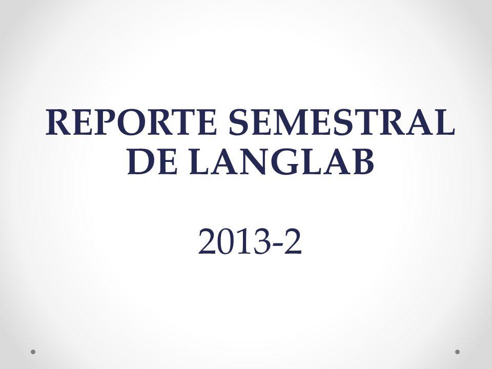 REPORTE SEMESTRAL DE LANGLAB 2013-2