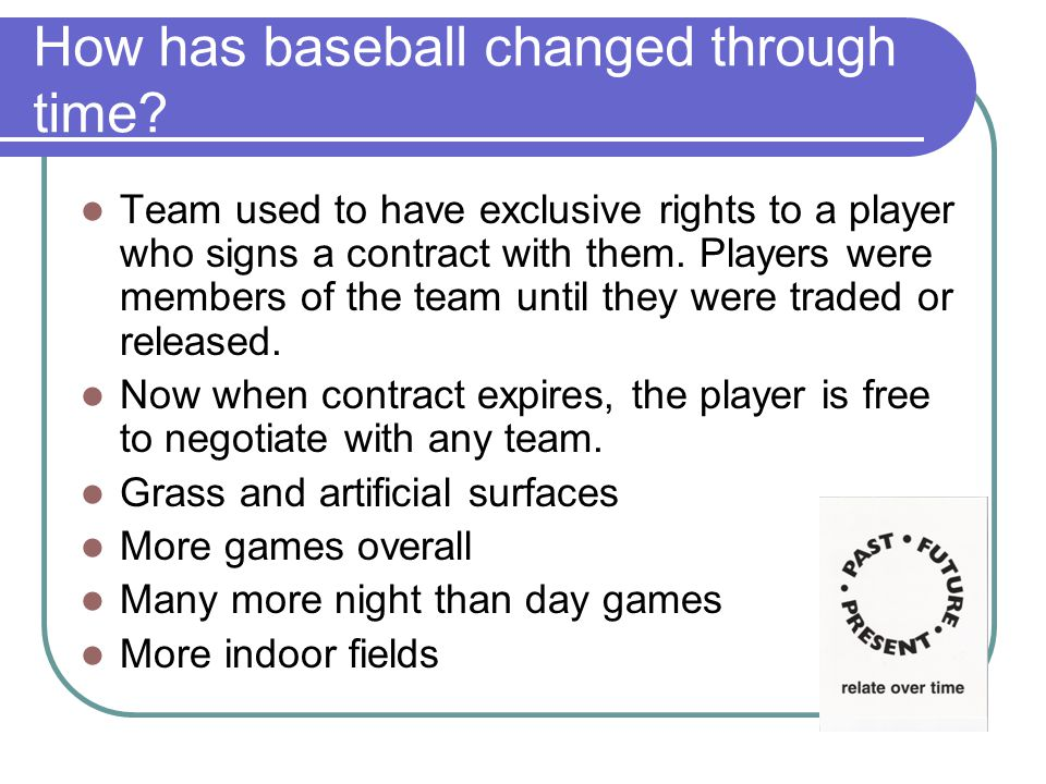 How has baseball changed through time.