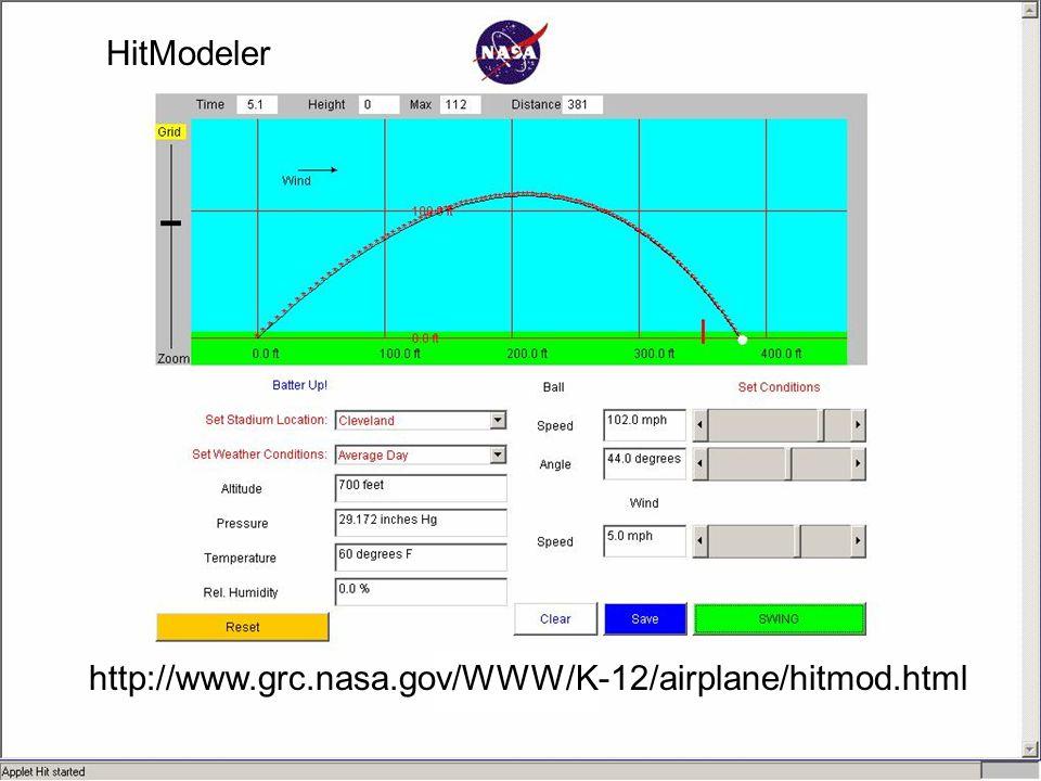 HitModeler http://www.grc.nasa.gov/WWW/K-12/airplane/hitmod.html