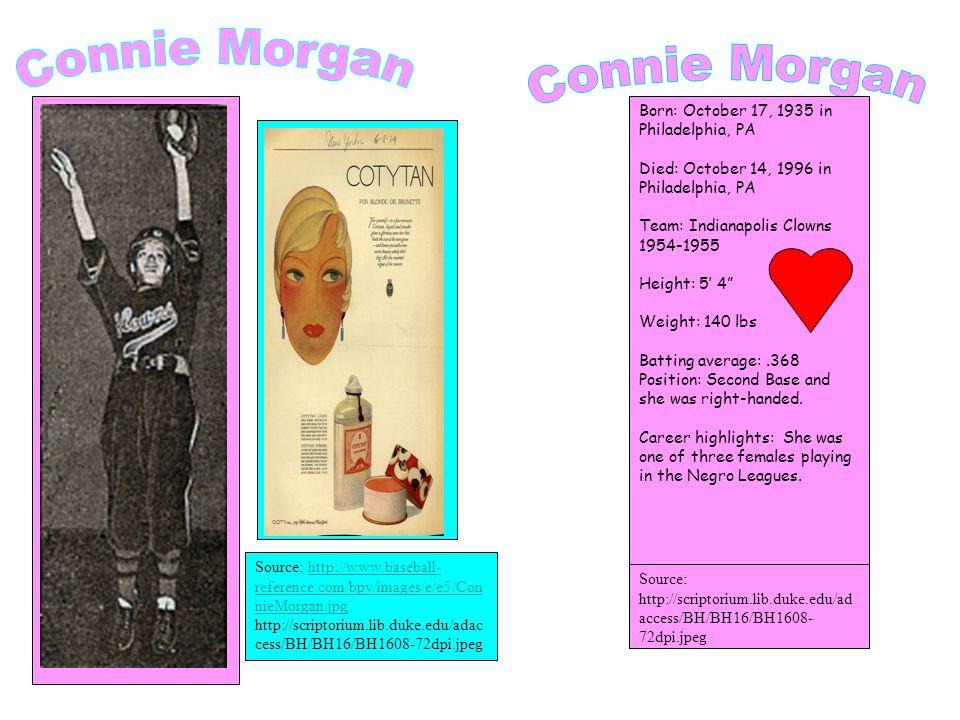 NAME: Constance Enola Morgan.