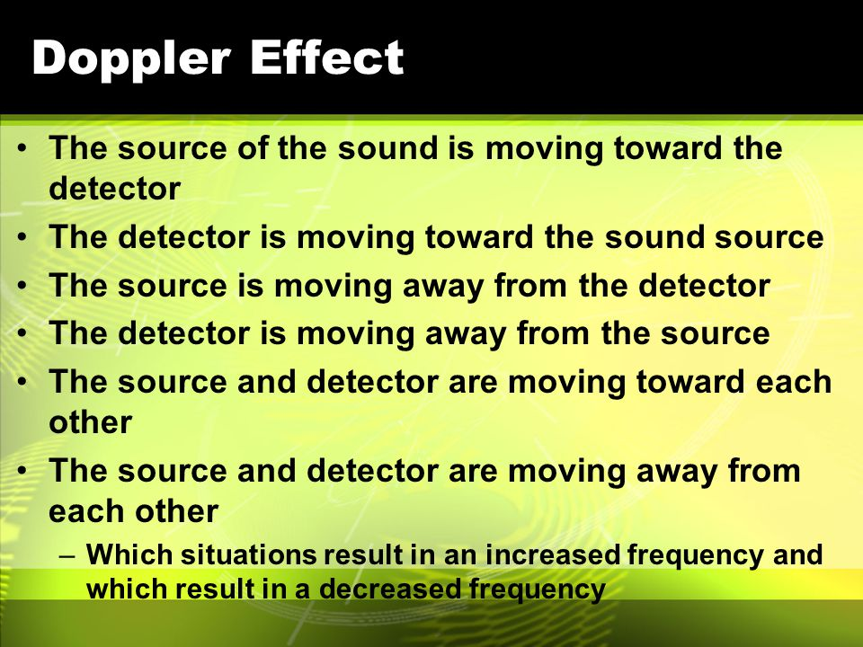 Review Doppler Effect