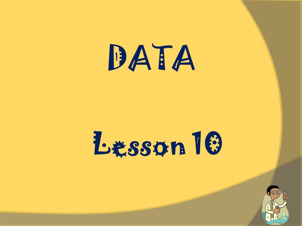 DATA Lesson 10