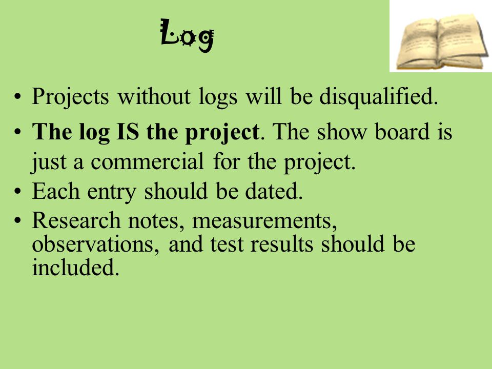 Example of log entry for question: August 20, 2011 I saw a picture of icebergs floating.