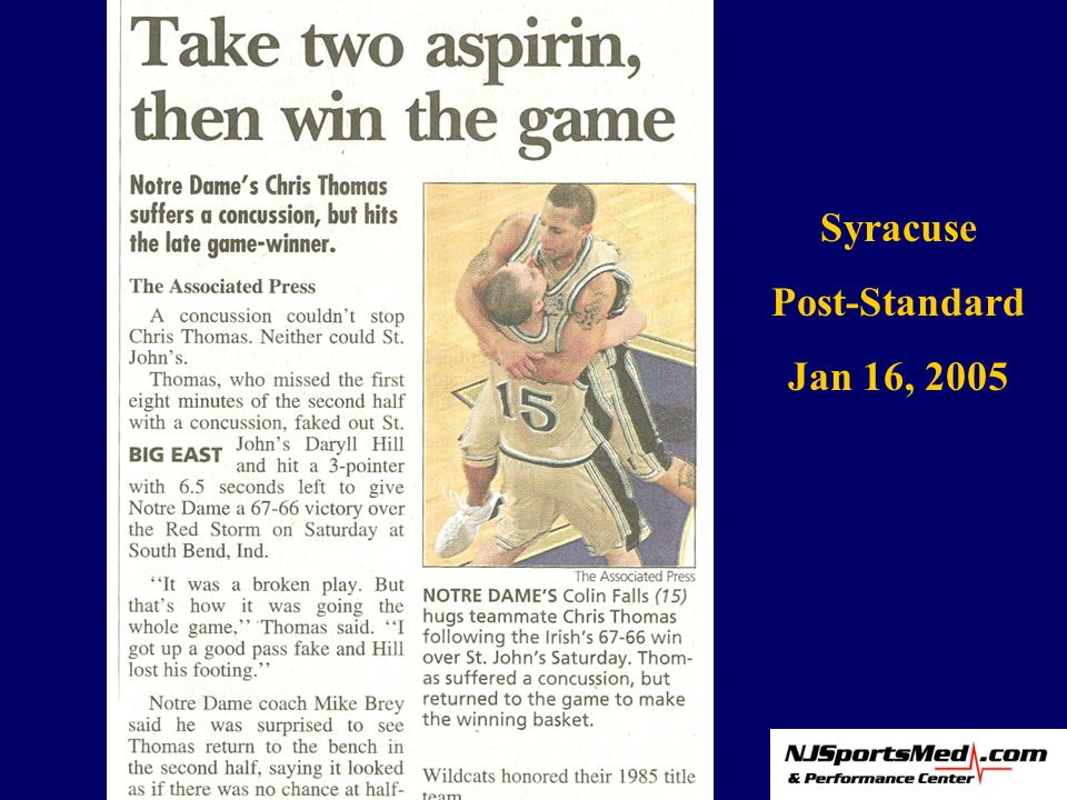 Syracuse Post-Standard Jan 16, 2005