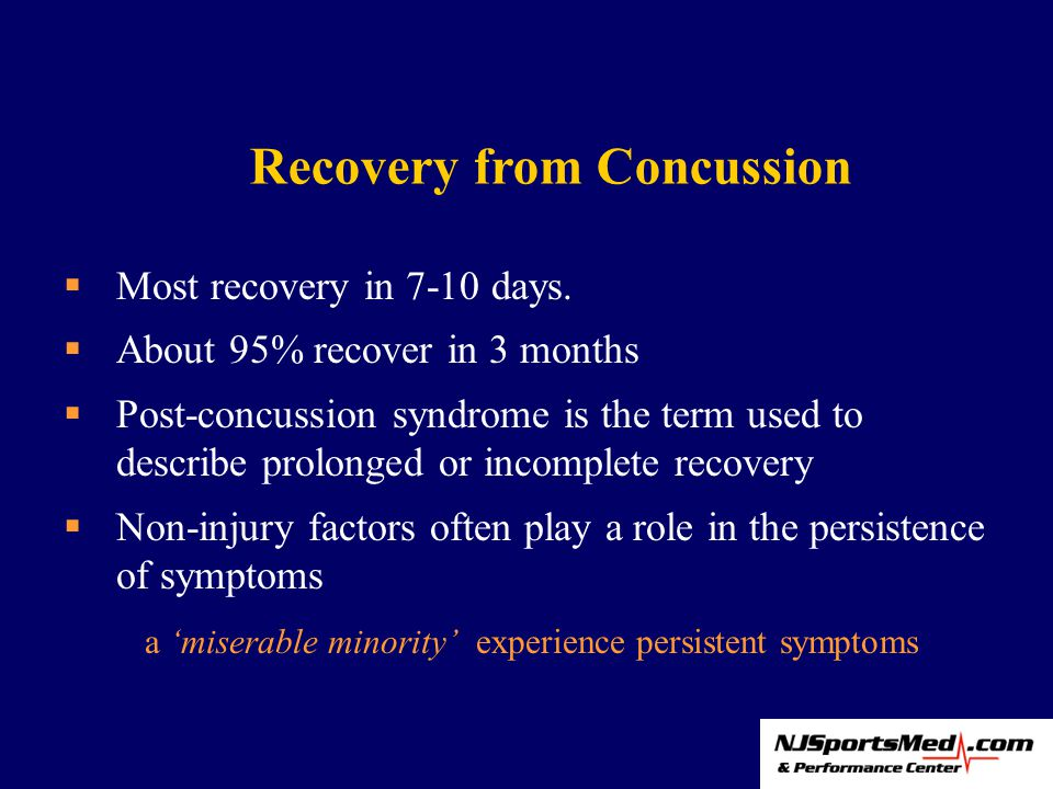  Most recovery in 7-10 days.