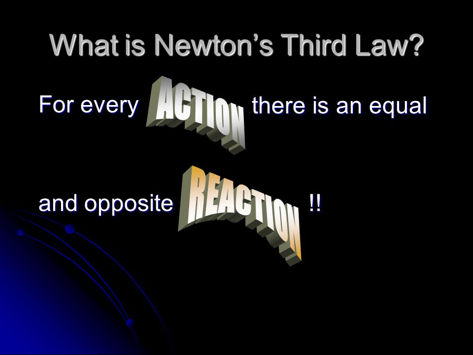Examples of Newton's Third Law When a skeet shooter fires his shotgun at a clay disc flying through the air, he experiences the recoil upon the shotgun.