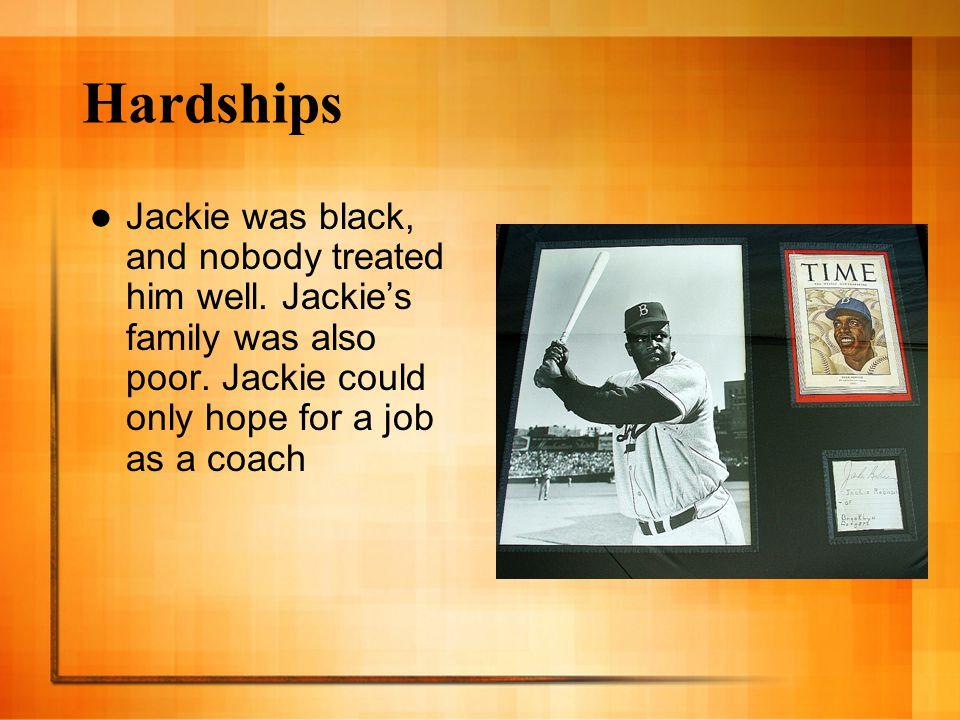 Accomplishments Jackie was the MVP of the National League.