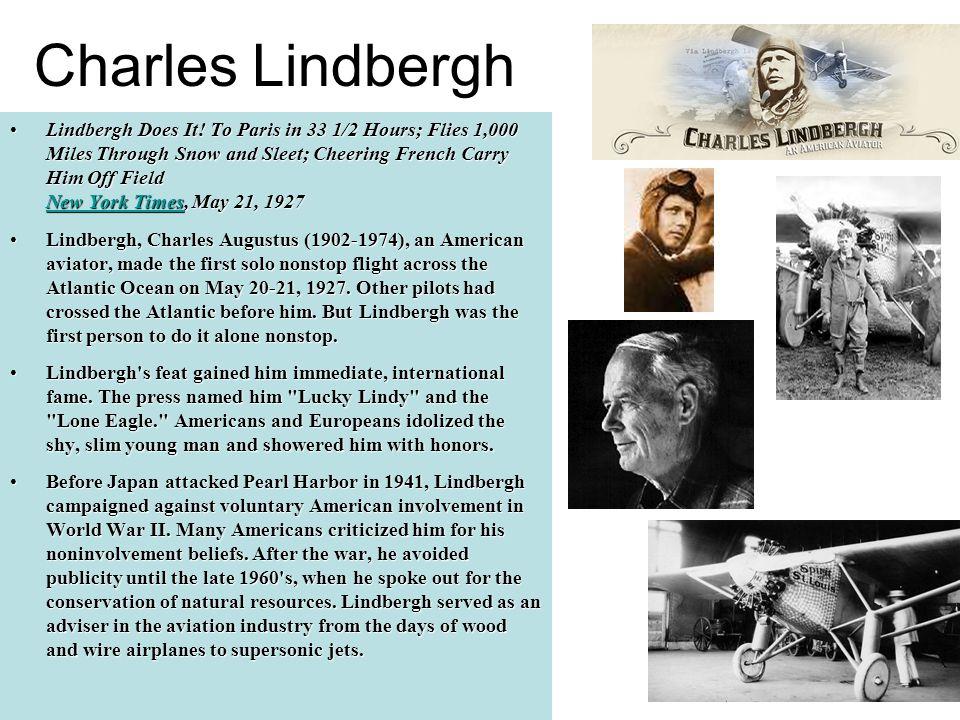Charles Lindbergh Lindbergh Does It.