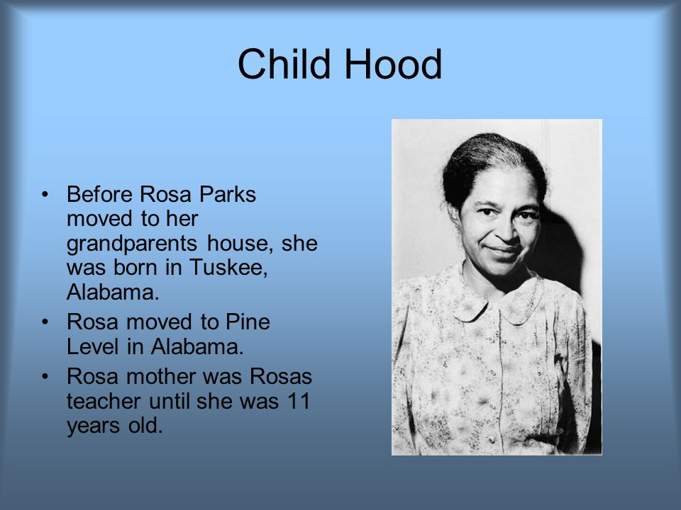 By Mercedes,Kiki,and Yona Rosa Parks – the woman who changed the law for black and white people!