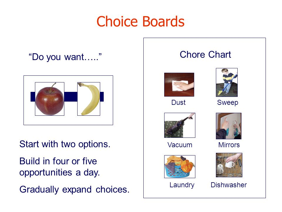 Choice Boards Do you want….. Start with two options.