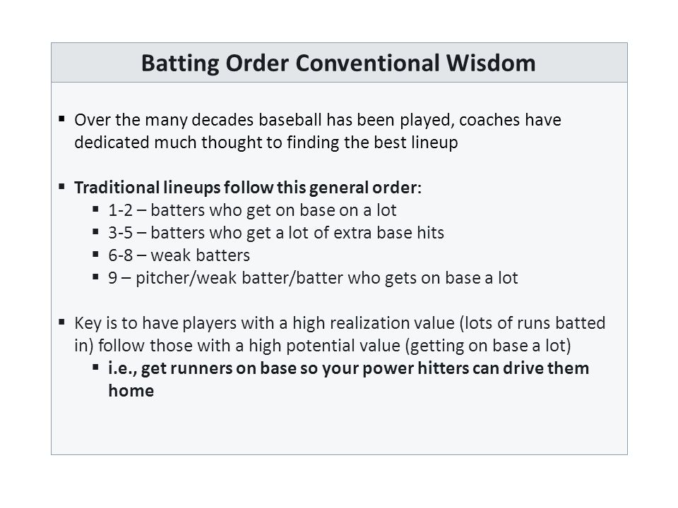 Underlying Causes of Run Production  There is a limited set of events that have the potential to score runs  We refer to these as Run-Producing Events or RPEs  RPEs include   Singles (1B)  Doubles (2B)  Triples (3B)  Home Runs (HR)  Bases on Balls/Batter Hitter by Pitch (BB+HBP)  Errors (ERR)