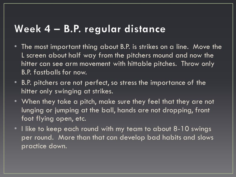 The most important thing about B.P. is strikes on a line. Move the L screen about half way from the pitchers mound and now the hitter can see arm move