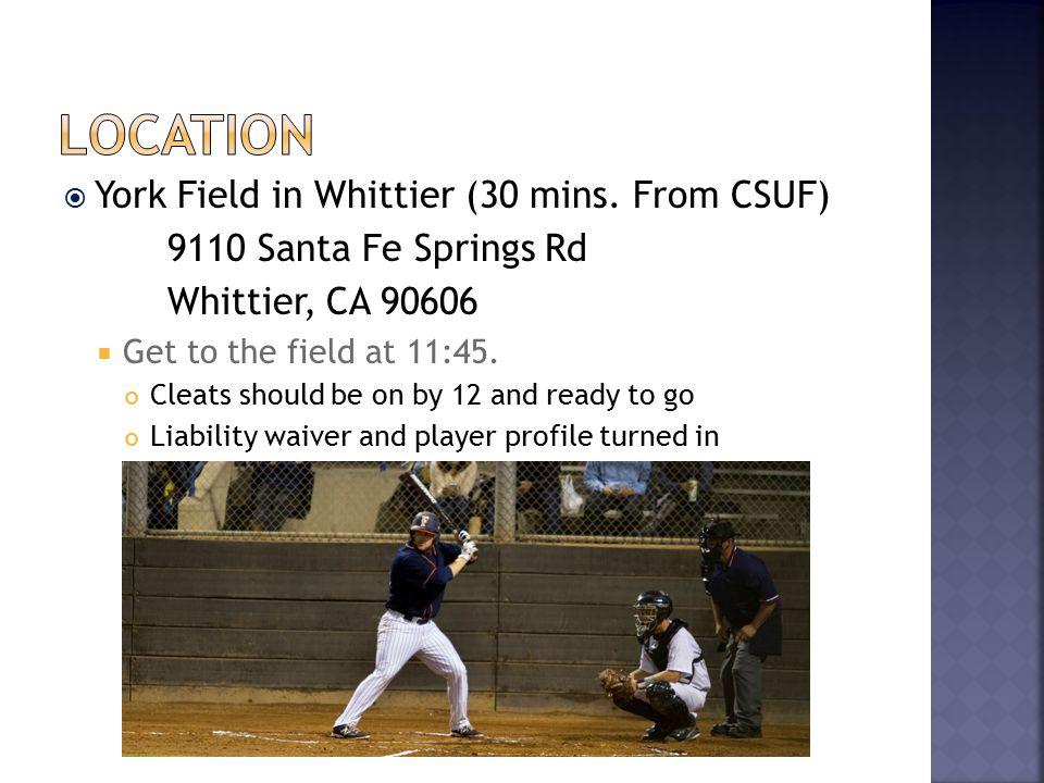  York Field in Whittier (30 mins.