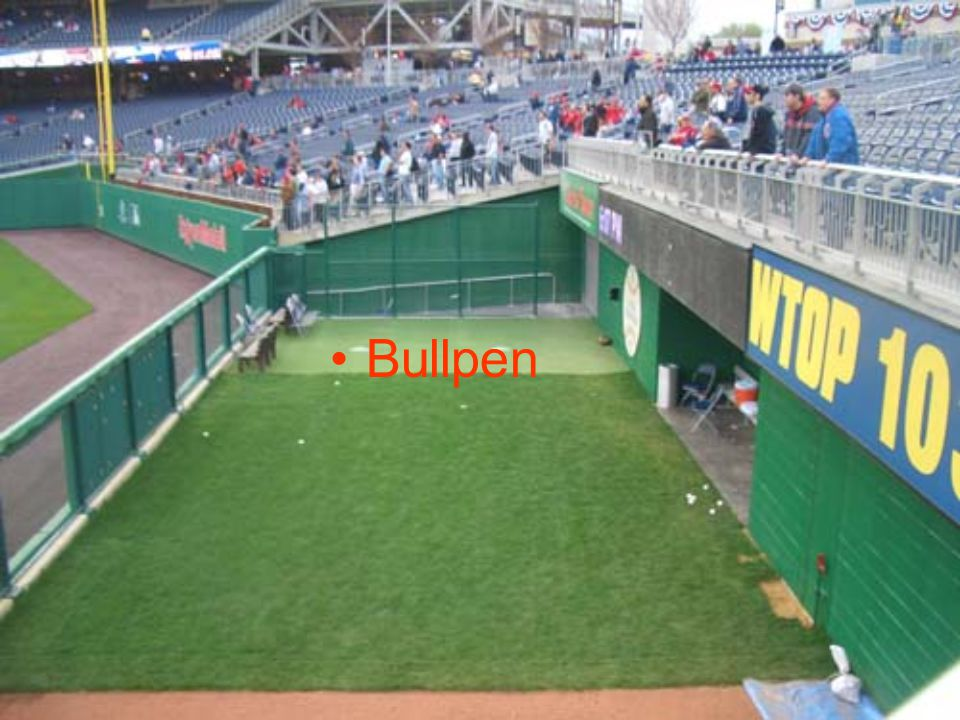 In baseball, the bullpen (or simply the pen) is the area where relief pitchers warm-up before entering a game.