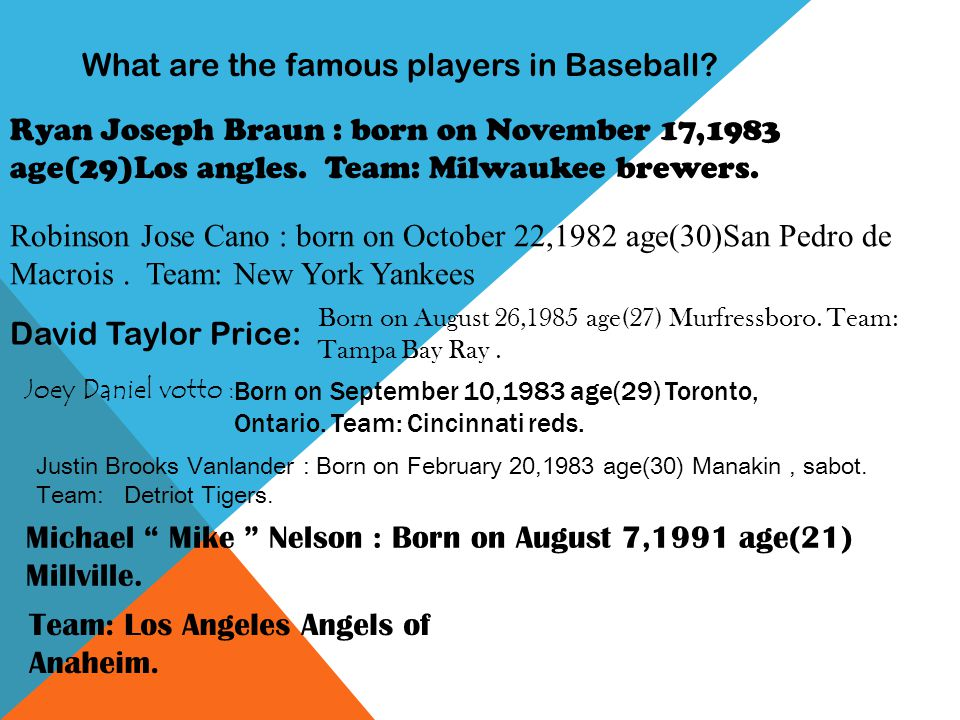 What are the famous players in Baseball.