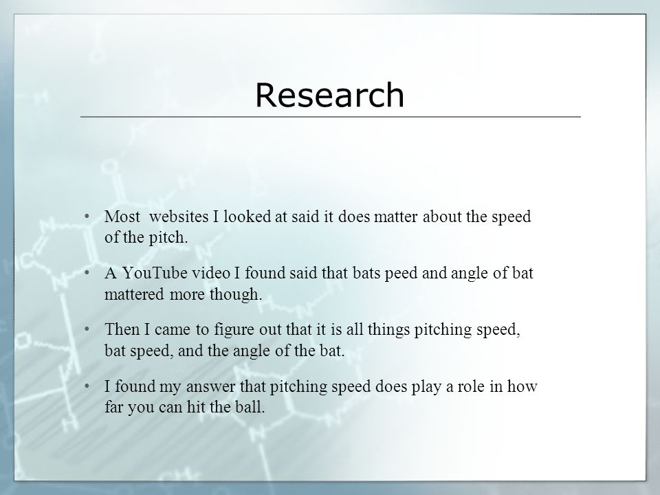 Research Most websites I looked at said it does matter about the speed of the pitch.