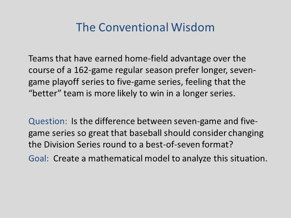 Maximum/Minimum Values of f(r,p) for different values of r We will consider values of r between 0.650 and 1.200, since the road multipliers of all 112 playoff teams from 1995-2008 have fallen in that interval.