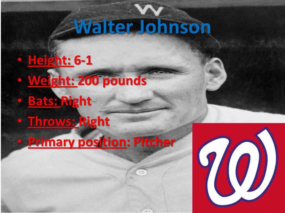 Grover Cleveland Alexander 2.56 ERA in 20 MLB seasons 2.56 ERA in 20 MLB seasons Led the league in ERA five times Led the league in ERA five times 373 wins tied with Mathewson 373 wins tied with Mathewson Right handed pitcher Right handed pitcher Inducted to Hall of Fame in 1938 Inducted to Hall of Fame in 1938