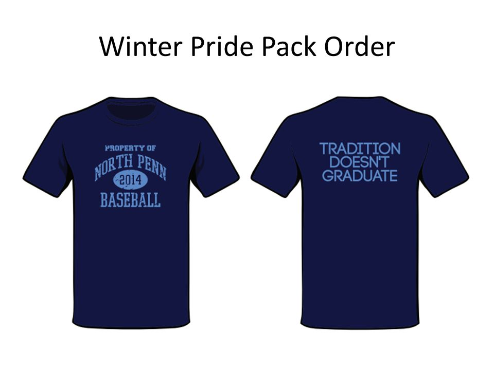 Winter Pride Pack Order