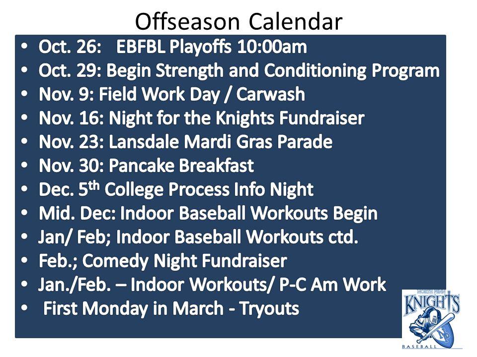 Offseason Calendar