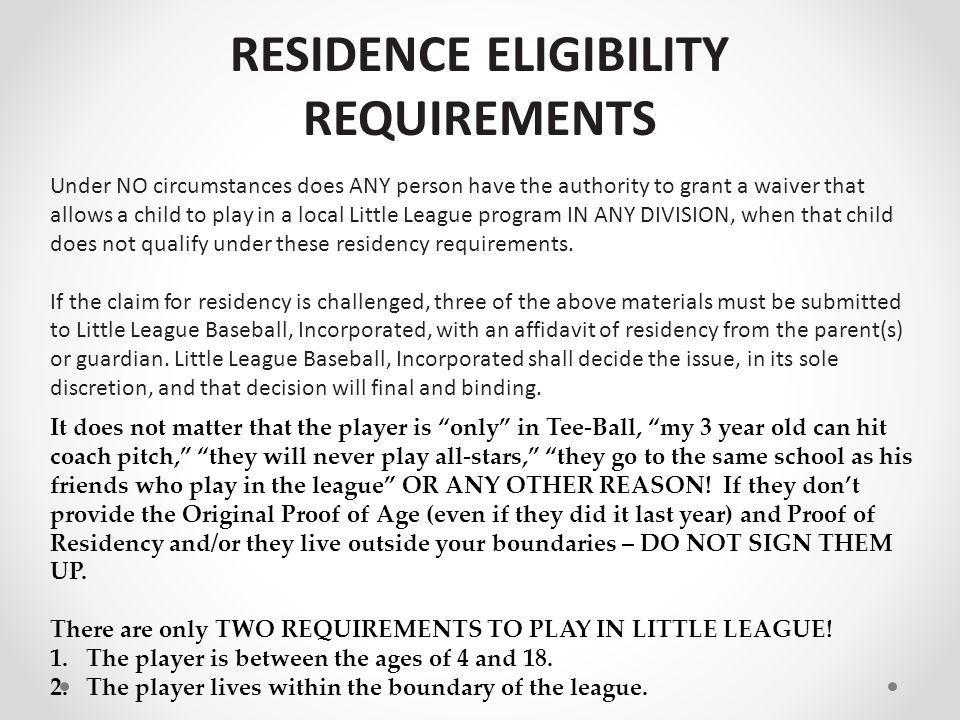 Registrations Who is responsible for verifying the Proof of Age and Proof of Residency.