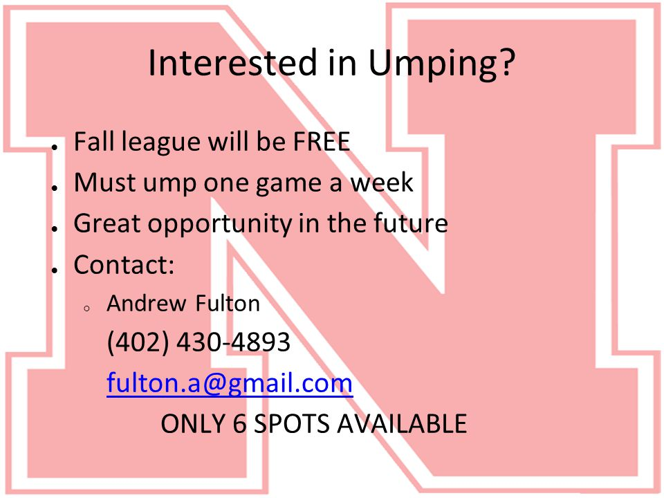 Interested in Umping.