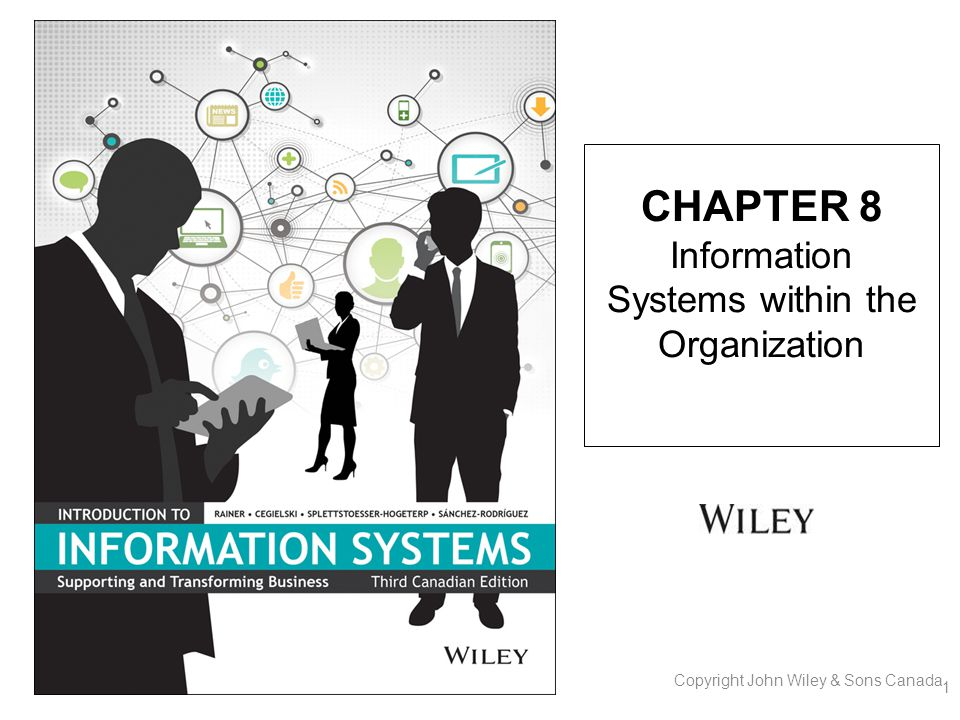 CHAPTER 8 Information Systems within the Organization 1 Copyright John Wiley & Sons Canada