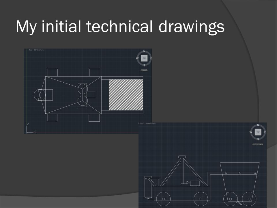 My initial technical drawings