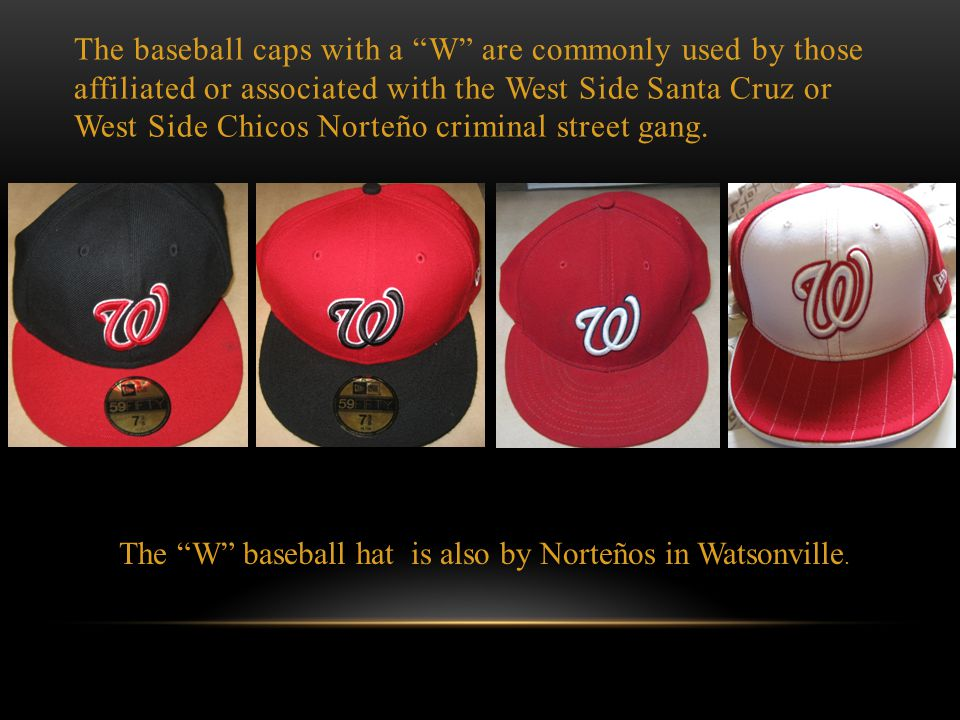DISCLAIMER: The items shown here are popular among youth. Many non-gang members also wear these particular clothes and accessories. Simply wearing the