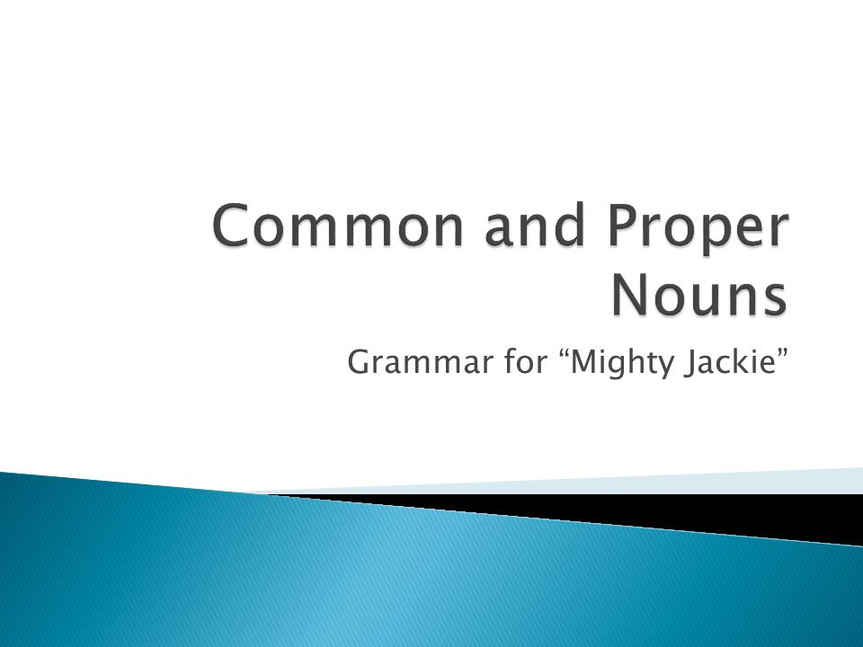 Grammar for Mighty Jackie