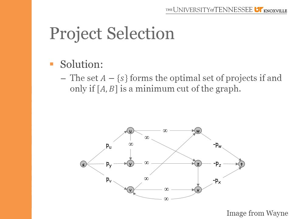 Project Selection Image from Wayne