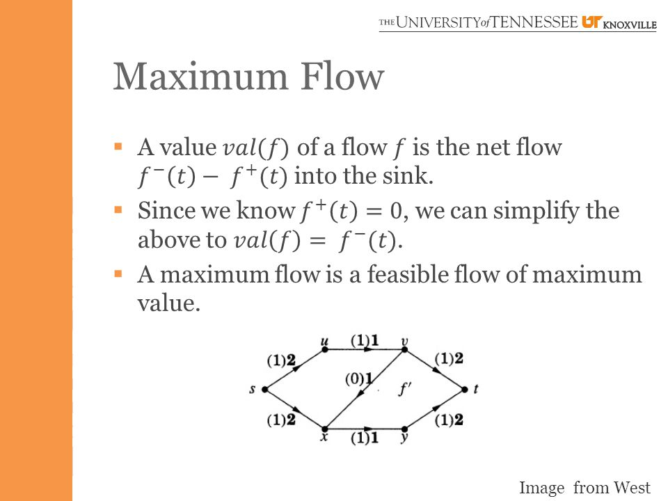 Maximum Flow Image from West